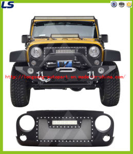 for 07-16 Jeep Wrangler Jk Stainless Steel and ABS Grille with One LED Light