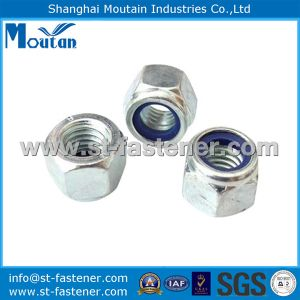 Nylon Lock Nuts DIN982 with Zinc Plated
