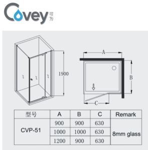6mm/8mm Glass Thickness Bathroom Accessories/Shower Door (Cvp051) pictures & photos