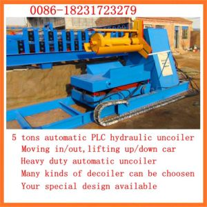 Dx Hot Deavy Duty Hydraulic Decoiler with Moving Car pictures & photos