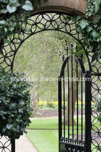 Elegant Exterior Custom Main Entry Wrought Iron Gate Design pictures & photos