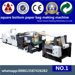 Inverter Control Speed Adjustable Paper Bag Making Machine pictures & photos