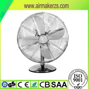 12 Inch Chrome Oscillation Function Metal Table Fan pictures & photos