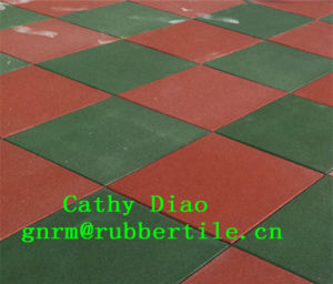 Supply Gym Sports Recycle Rubber Floor Tile, Outdoor Playground Rubber Tile/Interlocking Rubber Floor Mat/Colorful Rubber Tiles pictures & photos