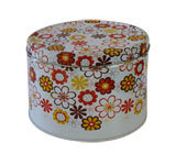 Colorful Flower Metal Storage Tin Box