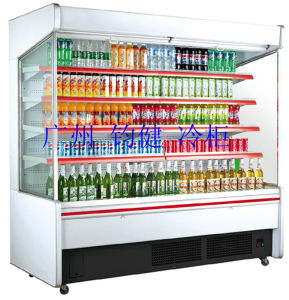 Vertical Open Display Cooler Commercial Refrigerated Multideck Supermarket Showcase pictures & photos