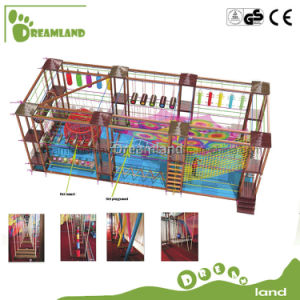 Adventure Play Equipment Rope Course and Shopping Mall Indoor Ropes Course pictures & photos