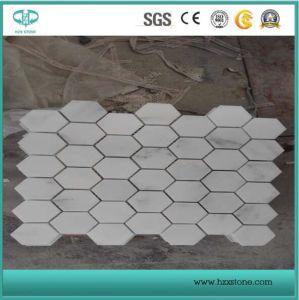 Bianco Carrara White Marble Mosaic Tiles Natural Slate for Kitchen Backsplash/Bathroom Wall Panel/Cultured Stone/Ledgestone/Decoration/Bathroom Floor pictures & photos