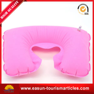 Velvet Inflatable Pillow for Airplane pictures & photos
