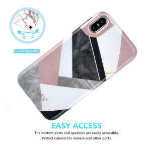 IMD Marble Foil Gold Printing Slim Flexible Soft Silicone Bumper Shockproof TPU Gel Rubber Phone Cover Case for Apple Iphonex pictures & photos