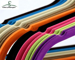 Plastic / Rubber Coated / Velvet Hanger for Cloth Shop (GLPH20) pictures & photos