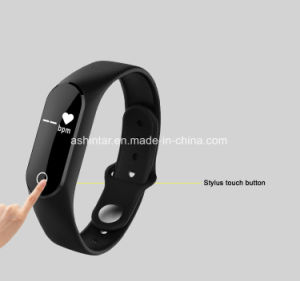 Fitness Tracker Bluetooth Sdk Bracelet Pedometer Wristband Smart Bracelet with Screentouch pictures & photos