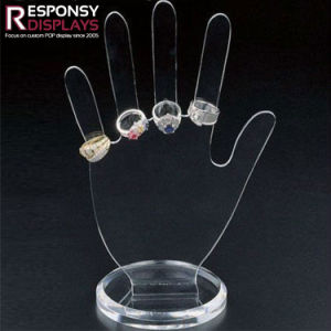 Factory Price Clear Acrylic Hand Look Jewelry Display pictures & photos