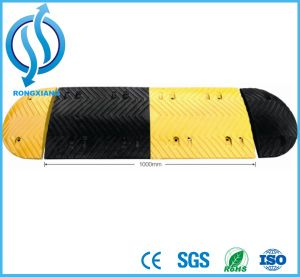 Yellow Reflective Rubber Speed Hump pictures & photos