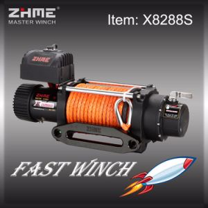 8000lbs Battery Powered Electric 12volt Winch with Synthetic Rope pictures & photos