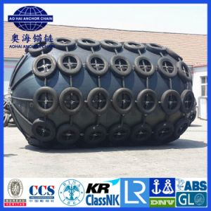3.5*4.5m Yokohama Type Pneumatic Rubber Fenders with Chain Tyre Net pictures & photos