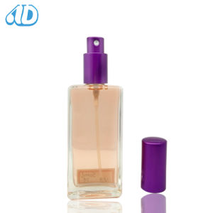 S4 Screw Square Spray Glass Perfume Bottle 50ml pictures & photos