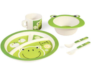 (BC-CS1076) Bamboo Fiber Tableware Set for Kids pictures & photos