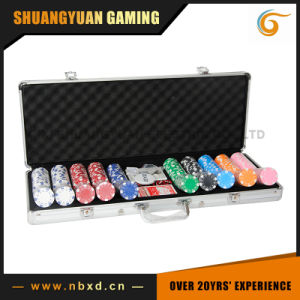 500PCS Poker Chip Set in Plain Surface Aluminum Case (SY-S28) pictures & photos