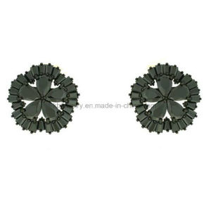 Leatest Style Copper Jewelry Flower Stud Plated Earrings (KE3105) pictures & photos
