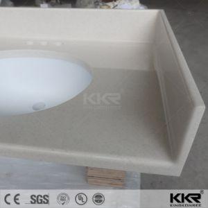 Precut Beige Artificial Marble Quartz Bathroom Countertop pictures & photos