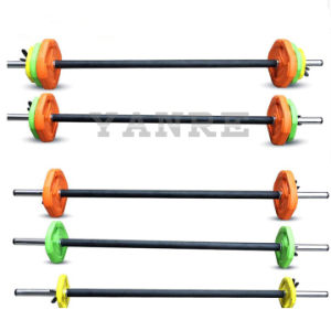 Gym Fitness Equipment Crossfit Colorful Weightlifting Adjustable Barbell Set for Women pictures & photos