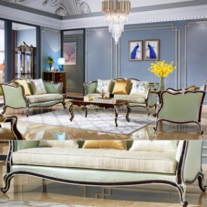 Wood Leather Sofa for Living Room Furniture (313) pictures & photos