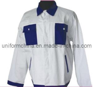 100% Cotton Men′s Work Jacket-OEM Service Simple Work Jacket/Workwear (6205T)