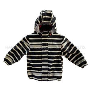Zebra Reflective PU Rain Jacket/Raincoat pictures & photos