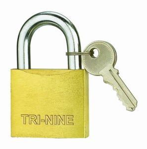 Middle Thick Brass Padlock Sand Polish (BS350) pictures & photos