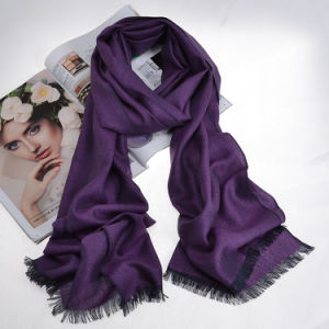 Silk&Cashmere Blended Luxury Herringbone Scarf (12-BR290107-1.4) pictures & photos