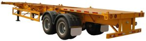 Cimc 40FT Two Axle Skeleton Semi-Trailer Twist Locks Truck Chassis pictures & photos