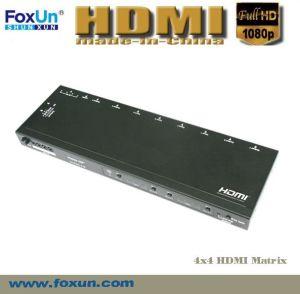 4x4 HDMI Matrix Support 3D & IR
