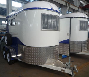 2 Horse Trailer Angle Load pictures & photos
