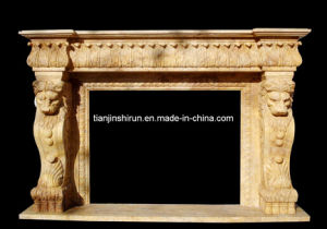 Stone Carving Fireplace Mantel (XF-4472) pictures & photos