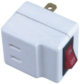 Flat Pin Red Switch Power Plug pictures & photos