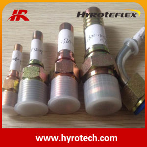 Hydraulic Hose Fittings/One-Piece Fitting/Jic/NPT/Bsp/Metric Fitting Nut pictures & photos