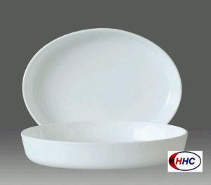 Opal Glassware Oval Bowl 11′′