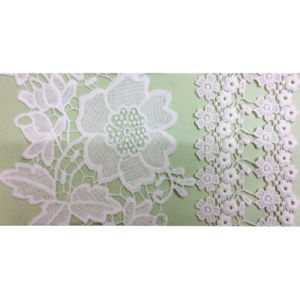 Fashion 100% Polyester Embroidery Lace (1752) pictures & photos