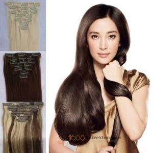 Clip in Human Hair Extension/ Top Fashion Indian Hair