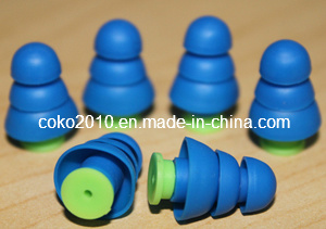 Three Layers Swimming and Sleeping Silicone Earplugs pictures & photos
