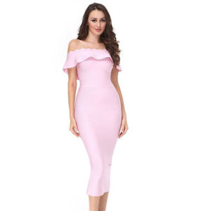 Fashion off Shoulder Women Dress Lady Garment pictures & photos