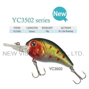 Beautiful Colors Plastic Crank Bait Fishing Lure pictures & photos