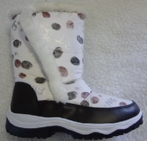 Warm Rubber Sold Women Snow Boots pictures & photos