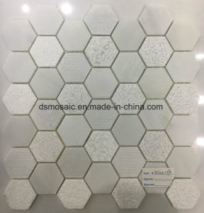 Crystal White Hexagon Marble Mosaic Tile pictures & photos