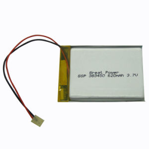 Rechargeable Polymer Li-ion Battery (GSP383450)
