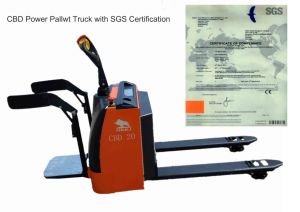 2.5 Ton Electric Pallet Stacker Orange Color with SGS Ceterfication pictures & photos