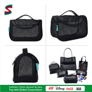 2015 New Style Fashion Cosmetic Bag in Net Fabric