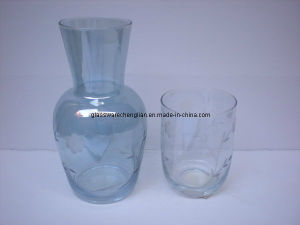 Engraved Colorful Glass Jar (B-272) pictures & photos