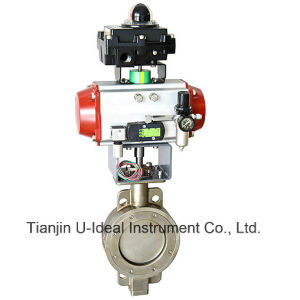 Hard Sealing Double Flanged Pneumatic Butterfly Valve-Control Valve pictures & photos